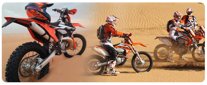 Advanced KTM Motorbike Ride, KTM Desert Motorbike Tour Dubai, Motorcycle rental dubai, motorbike hire in dubai