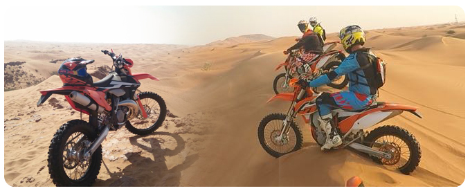 KTM Dirt Bike Tour for Beginners, KTM Desert Bike Tour Dubai, Motorbike rental dubai, motorcycle hire dubai